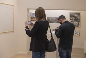 Pierwsi zwiedzający wystawy w muzeum przy Gdańskiej 4-25585