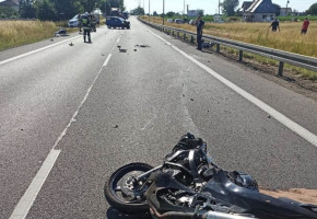27-letni motocyklista zginął na miejscu po zderzeniu z hondą-26166
