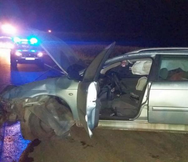 Pijany kierowca szarżę na drodze zakończył w... burakach-26766